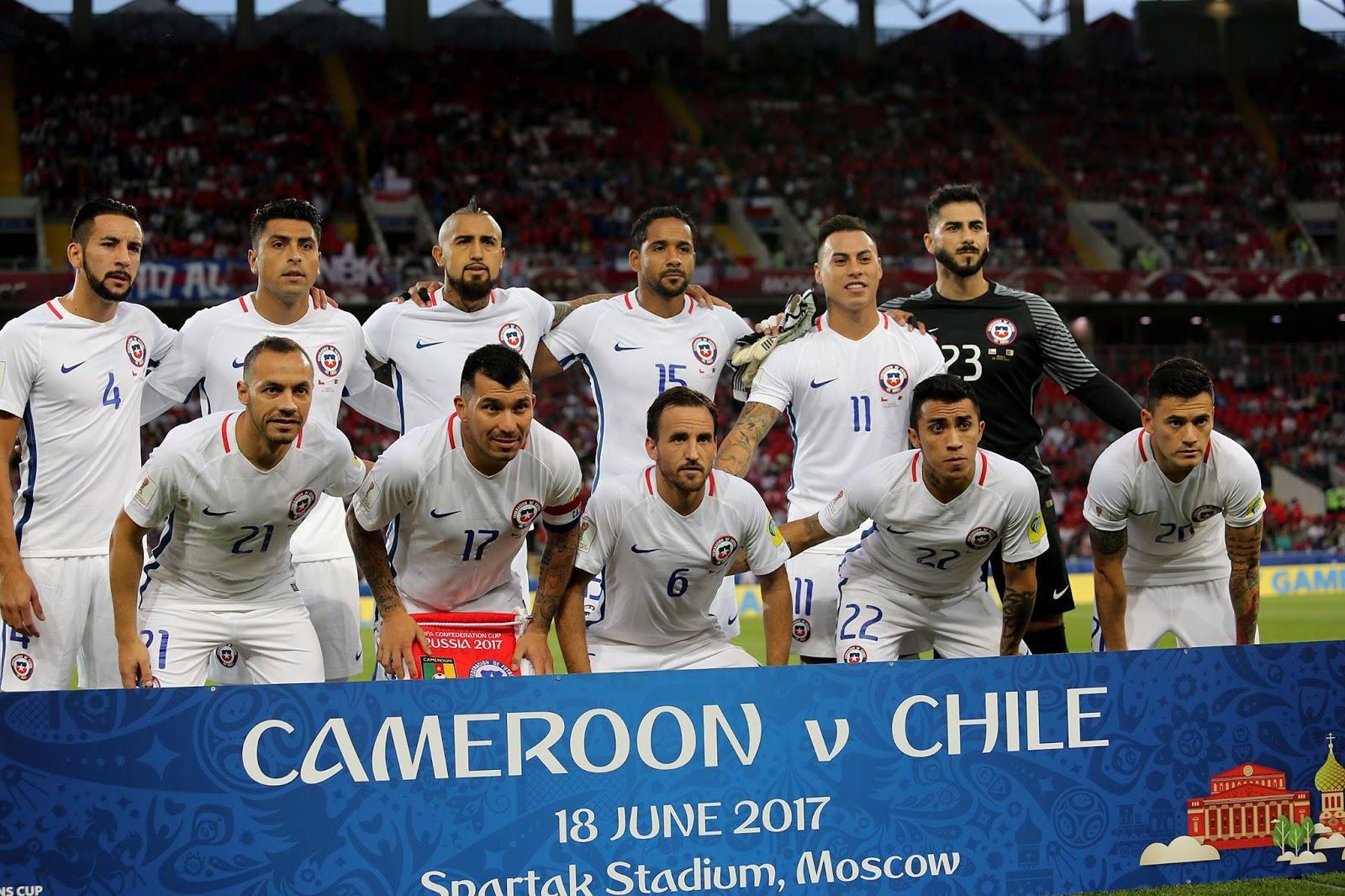 Formación de Chile ante Camerún, Copa Confederaciones 2017, 18 de junio