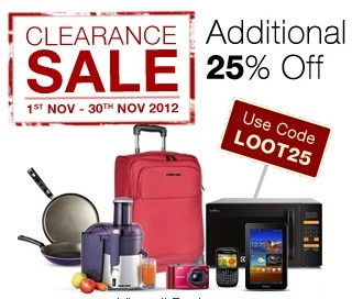Futurebazaar Clearance Sale: Additional 25% Discount on already Discounted Products