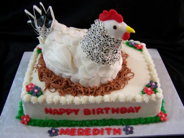 Hình ảnh bánh sinh nhật sáng tạo: Ổ gà mái ấp trứng