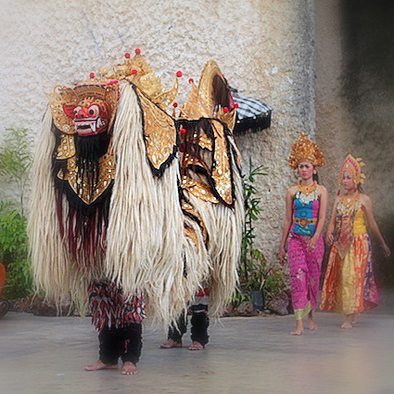 Tari Barong and Keris