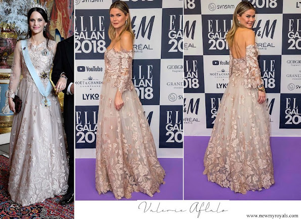 Princess Sofia wore a gown by Swedish designer Valerie Aflalo