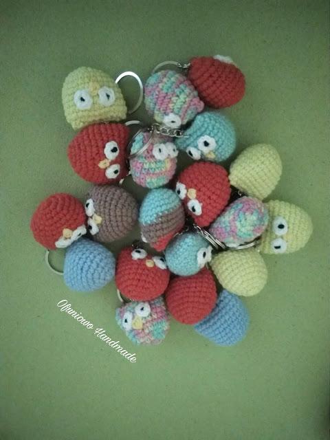 Crochet mini owls - Ofuniowo Handmade