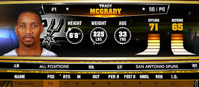 NBA 2K13 Roster Spurs Sign Tracy McGrady T-mac