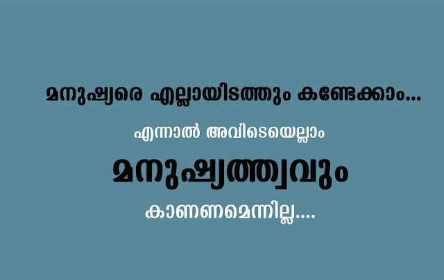 malayalam quote human everywhere humanity not everywhere gray background text in black and white