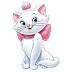 kartun kucing marie cantik bertabur pink love