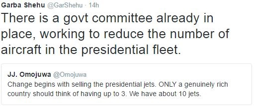 A Committee is Currently in Place to Reduce the Number of Aircraft in the Presidential Fleet - Garba Shehu Reveals