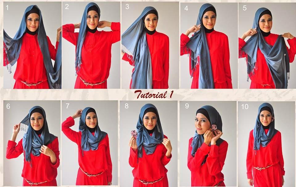 Hijab moderne - Chale hijab long   Beautiful Hijab Styles f9a1de79653