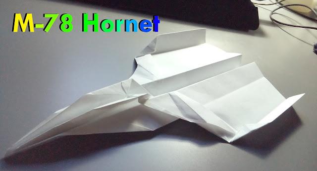 Avión de papel M-78 Hornet