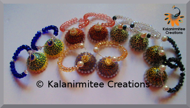 kalanirmitee:paper quilling-quilling-quilling ideas-quilled earrings- quilled jhumkas
