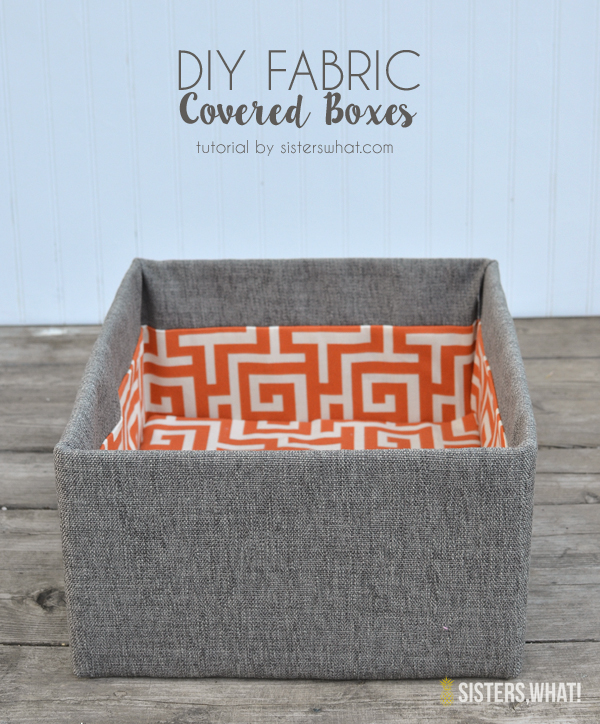How to make fabric storage boxes out of cardboard