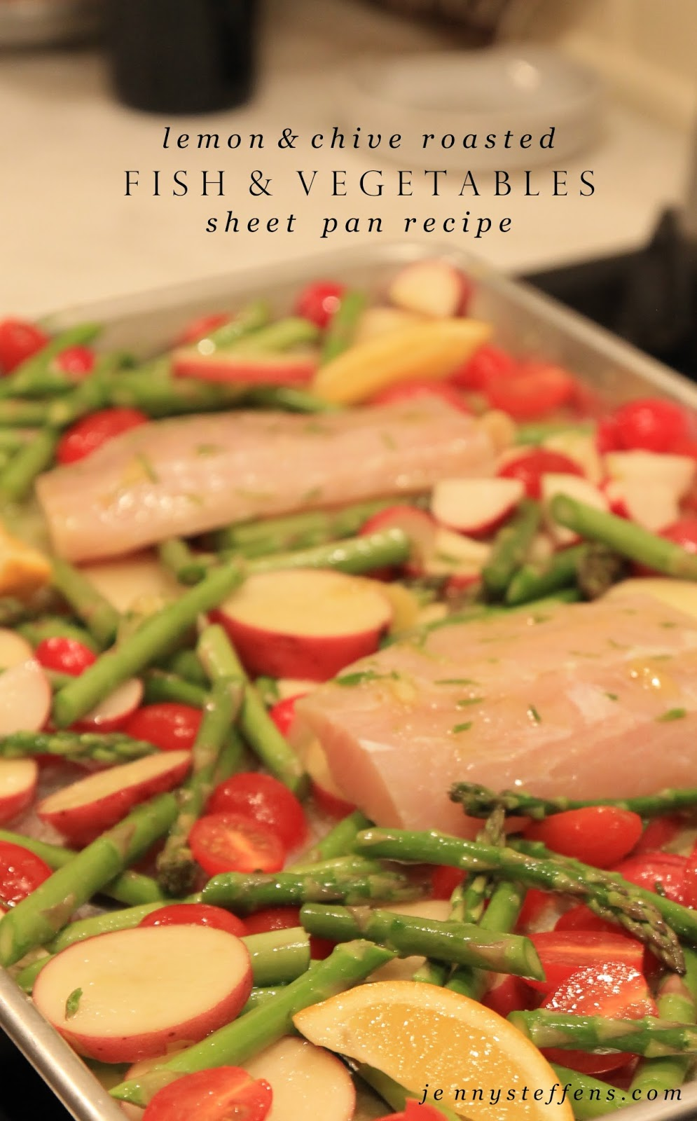 Jenny steffens hobick lemon chive roasted fish for Fish and vegetable recipes