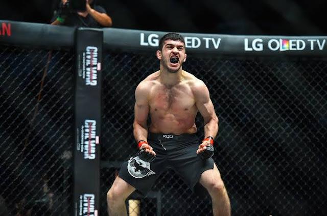 """Saygid """"Dagi"""" Guseyn Arslanaliev def Ev Ting via TKO"""