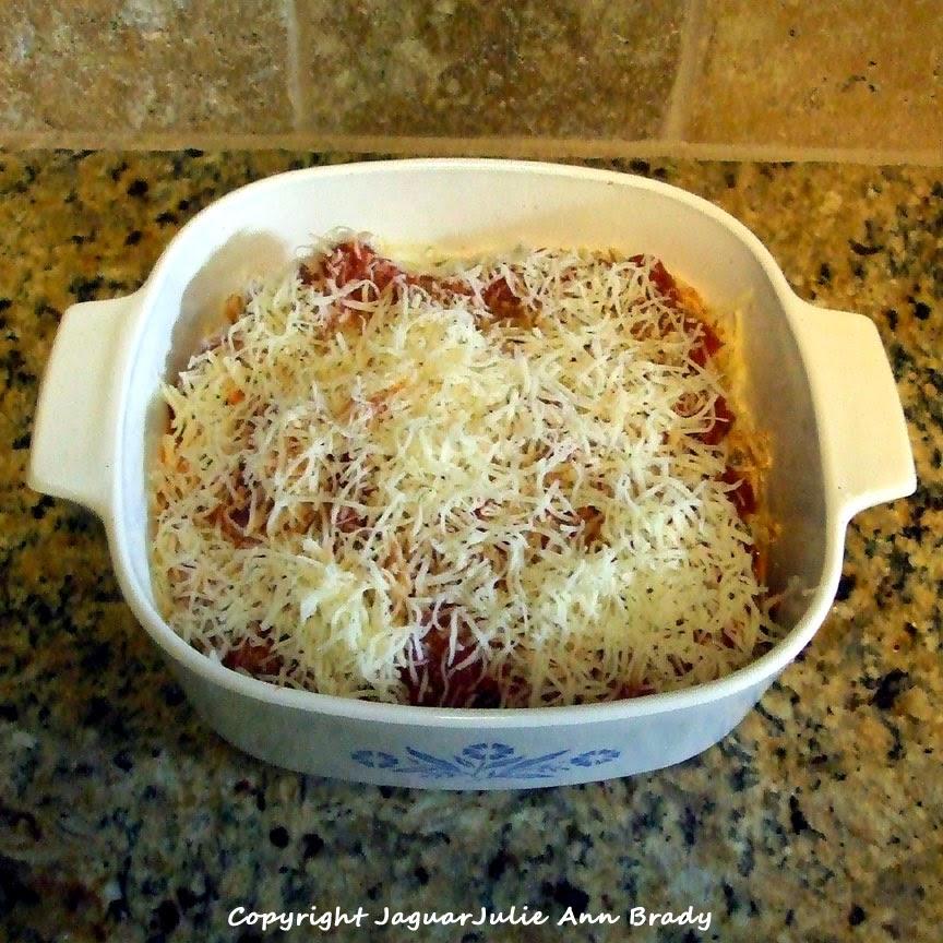 My Eggplant Parmesan Recipe before baking