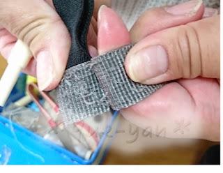 エルゴ修理で縫製をほどいていきます