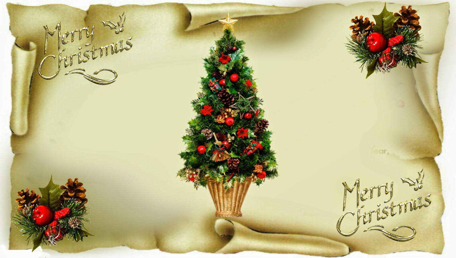 Merry christmas greeting card hd images free download christmas greetings card with xmas tree 1920x1090 image kristyandbryce Images
