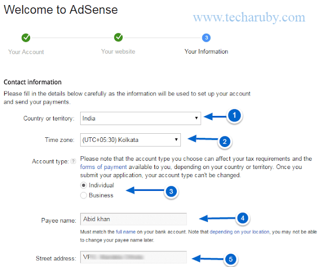 aplication for adsense