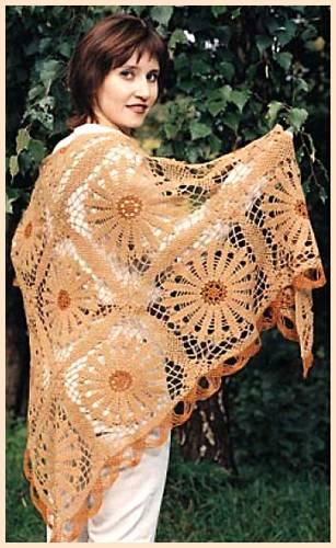 Cómo hacer chal a crochet