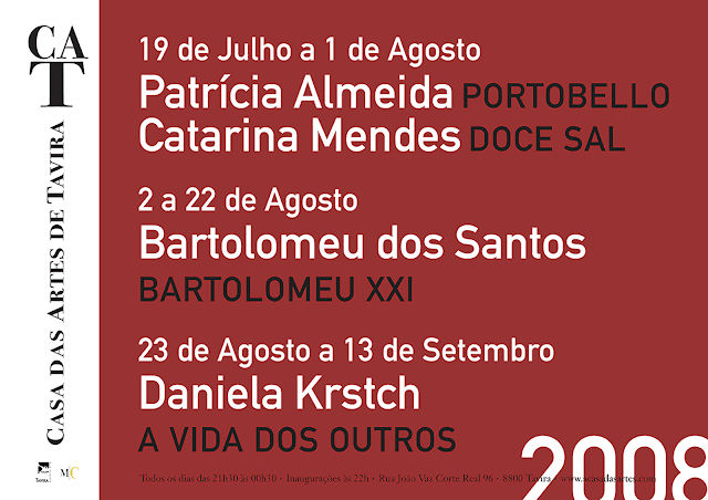 casa das artes . cartaz . programa . 2008