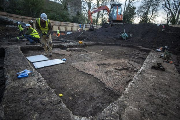 Roman remains unearthed next to Colchester's Mercury Theatre