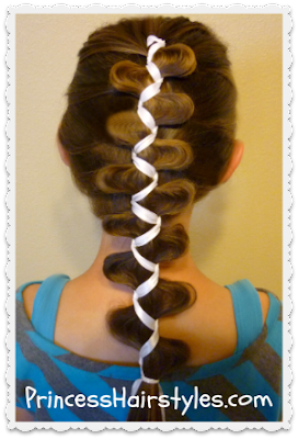 Unique french ribbon braid, princesshairstyles.com