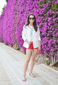 conjunto en rojo blanco red white outfit