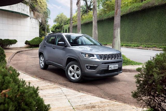 Jeep Compass encerra 2017 como o SUV mais vendido do Brasil
