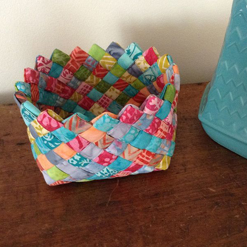 Woven Fabric Basket - Tutorial