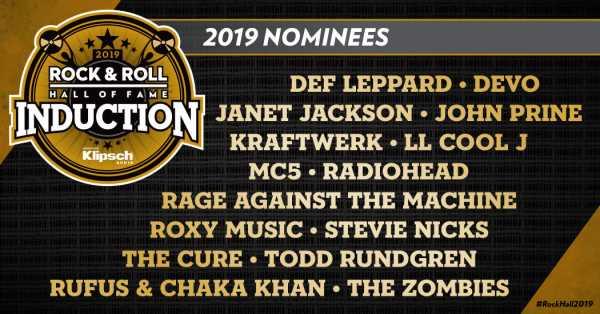 Οι υποψηφιότητες για το Rock And Roll Hall Of Fame 2019
