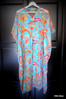 Owners beach dress in boho colors