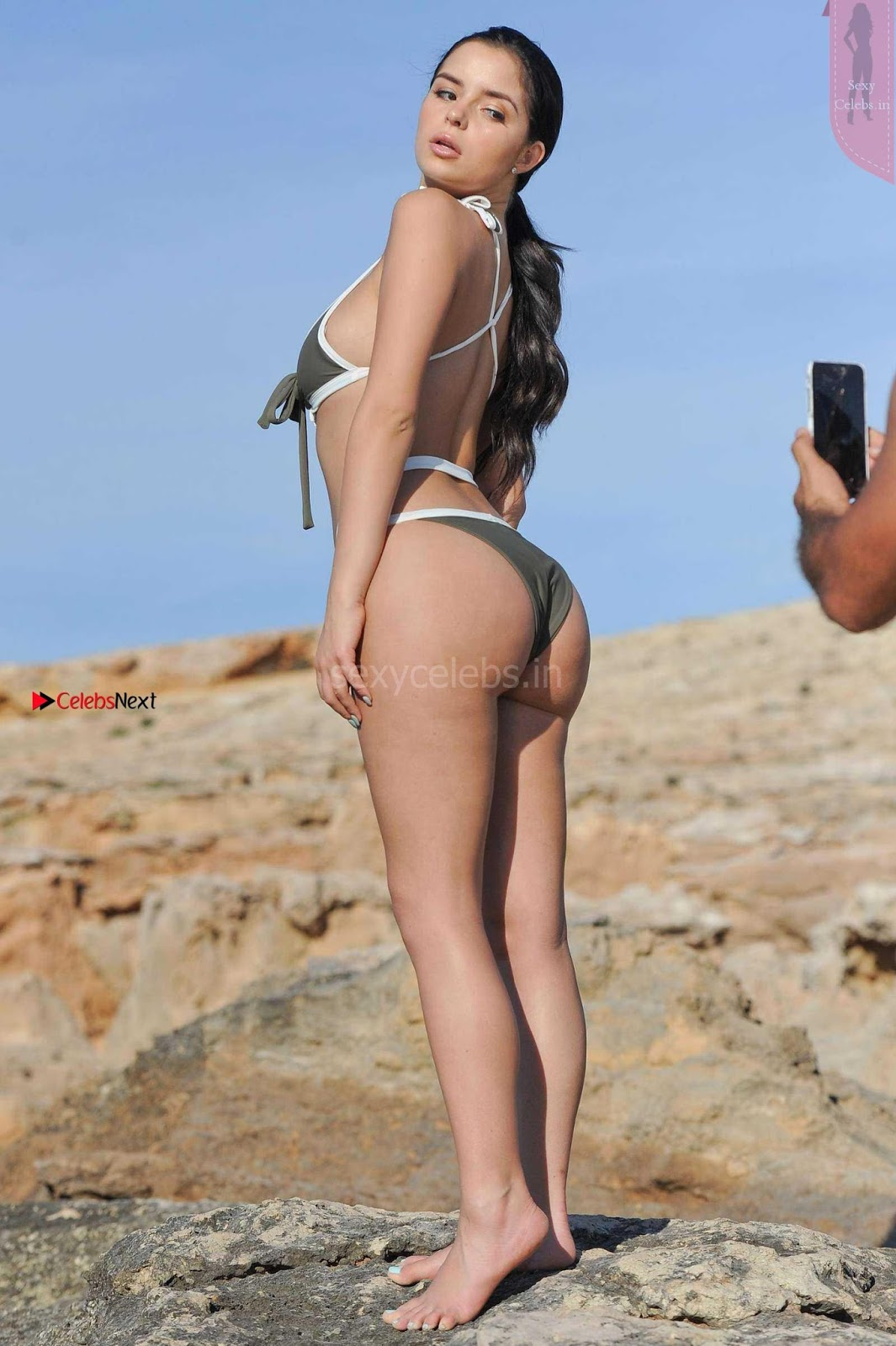 Demi Rose Booty Ass Huge Ass Cleavages Boobs in Photoshoot in Bikini June 2017