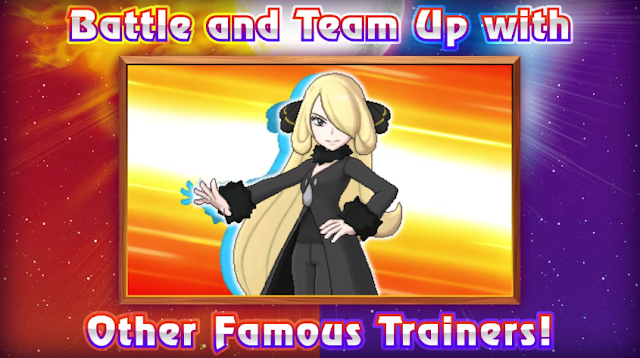 Cynthia Pokémon Champion Sun Moon Battle Tree versus art