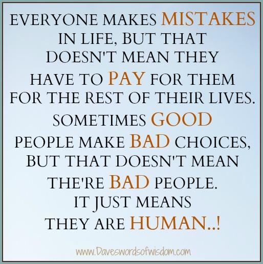 Daveswordsofwisdom.com: Everyone Makes Mistakes