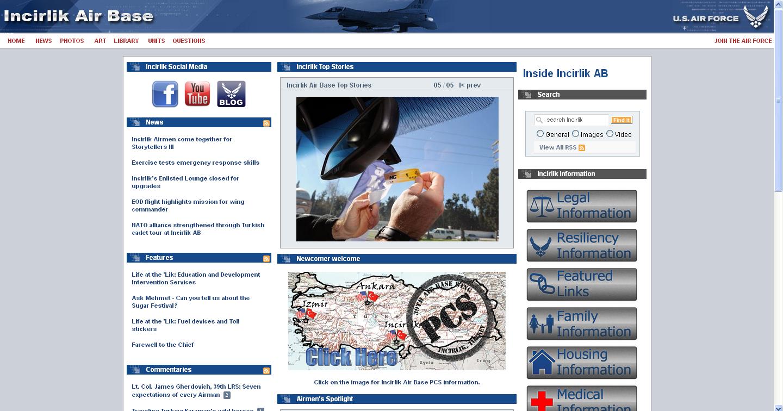 site Αμερικανικής Στρατιωτικής Βάσης Ινσιρλίκ ΤΟΥΡΚΙΑ