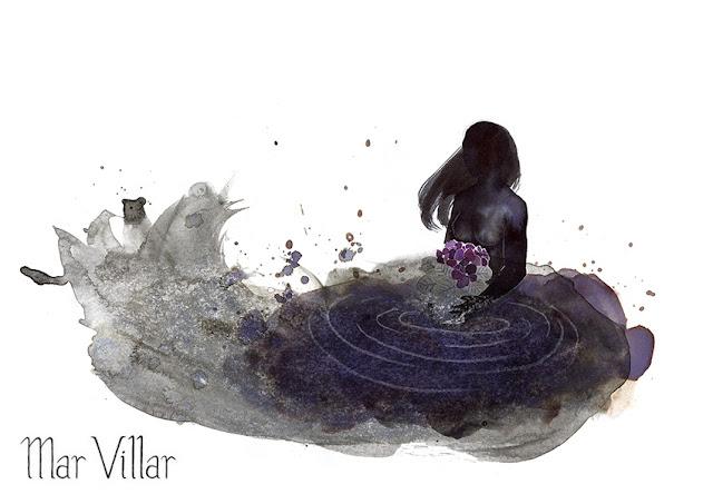 Inktober, Inktober 2016, plantas, violeta africana, baño, ilustración a tinta, silueta humana, tinta, aguada de tinta, quink, tinta parker