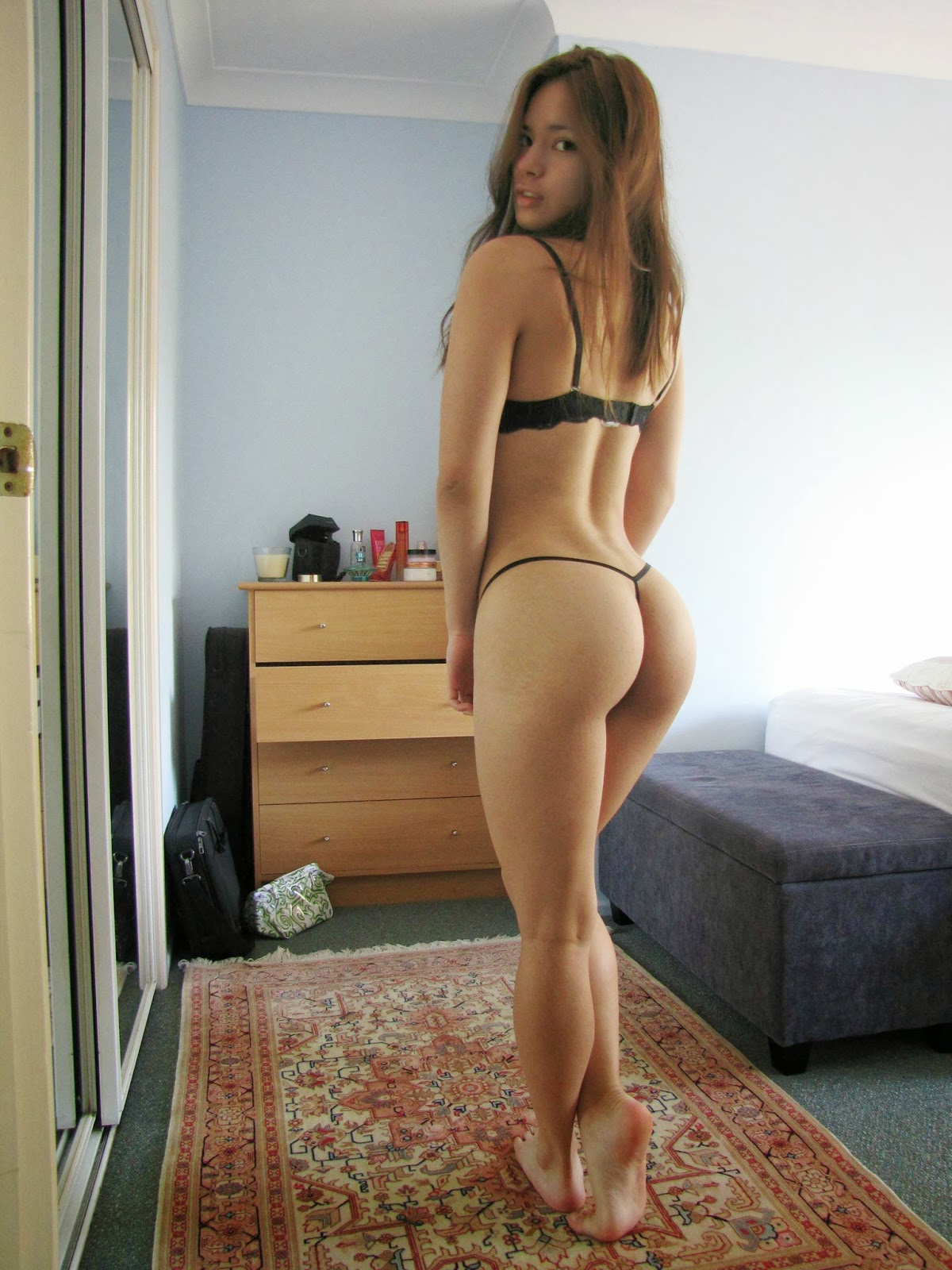 asian bikini butt