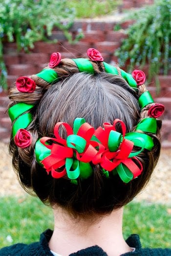 Christmas Hairstyles For Kids.Cute Xmas Hairstyle Ideas For Young Girls Girl Trends