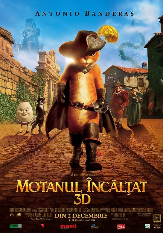 Motanul încălţat (2011) dublat în română