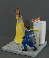statuine per torta matrimonio a tema serie tv csi investigatori orme magiche