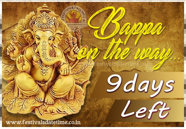 Ganesh Chaturthi Puja 9 Days Left Wallpaper