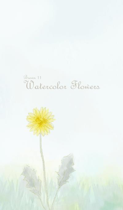 Watercolor Flowers[Dandelion]/Brown11
