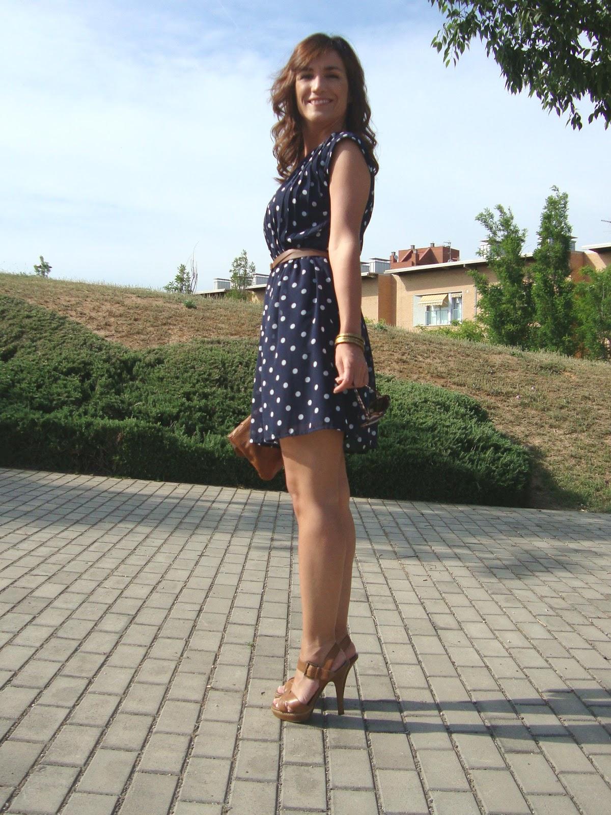 Zapatos Para Vestido De Lunares Azul Y Blanco Vestidos Baratos