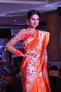 South Indian Celebrities Pos at Love For Handloom Collection Fashion Show  0080.jpg