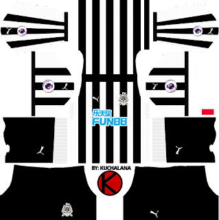 Newcastle United FC Kits 2017/2018 - Dream League Soccer