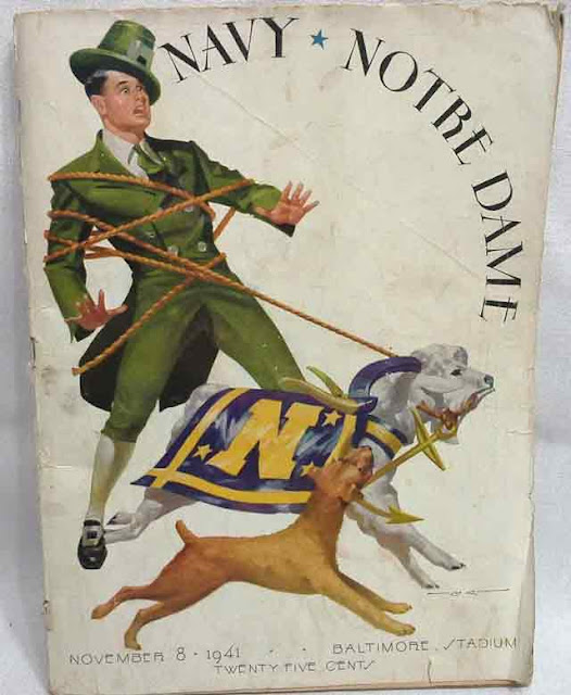 Navy vs. Notre Dame football program, 8 November 1941 worldwartwo.filminspector.com
