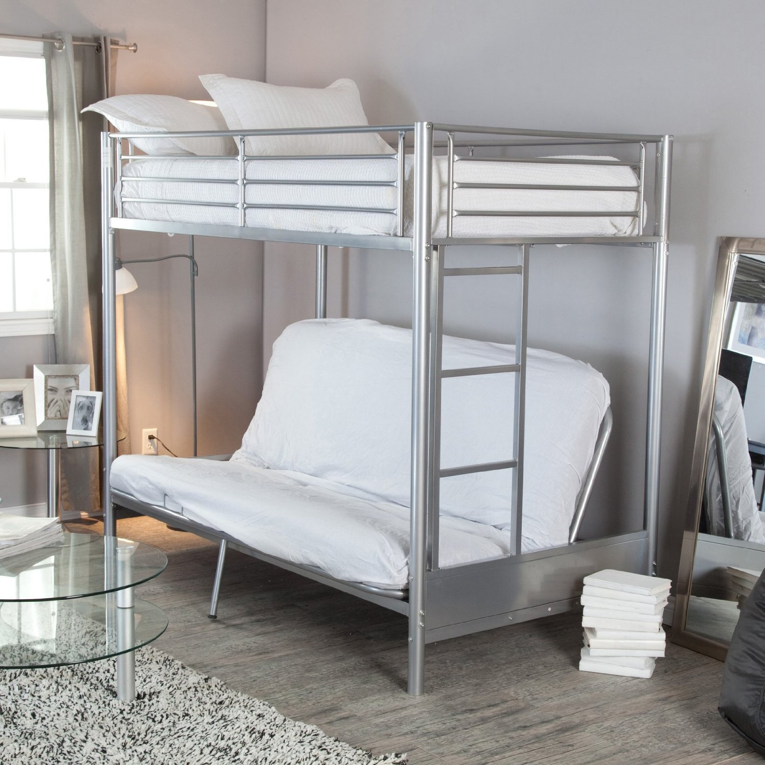Total Fab Metal Wood Loft Beds With Sofa Underneath
