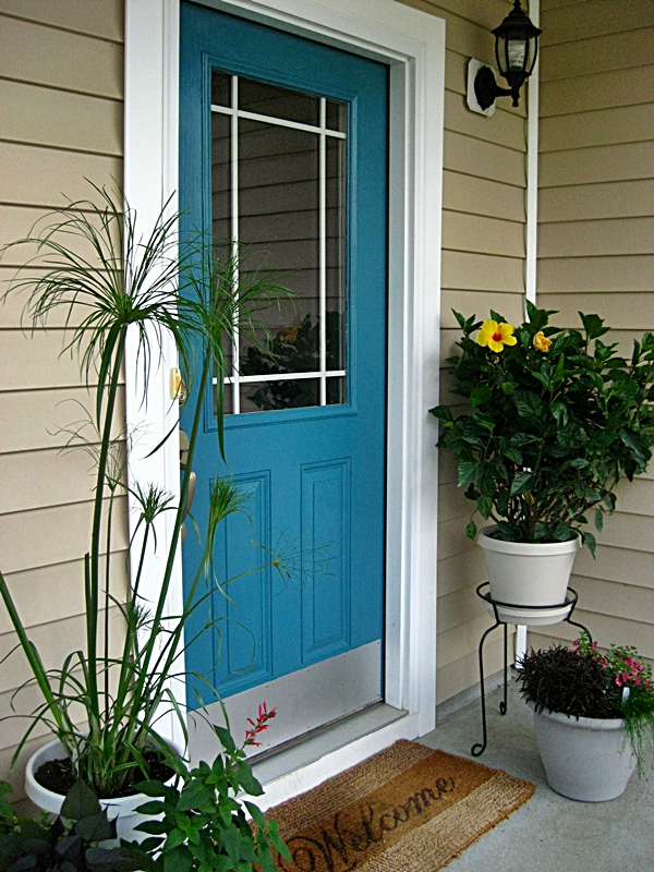 Eat sleep decorate front door reveal - Front door colors for blue house ...