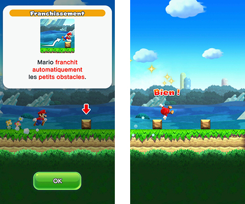 Super Mario Run Franchissement