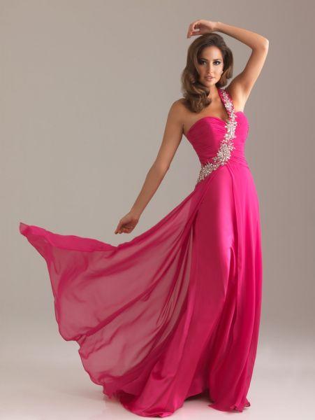 vestidos largos rosados