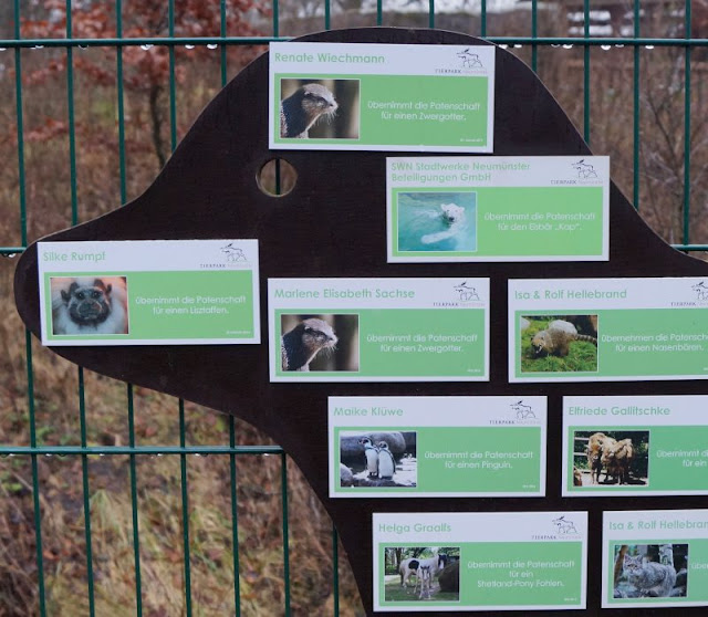 Tierpark Neumünster Tierpatenschaft Kinder Familie Herbst Winter Frühjahr