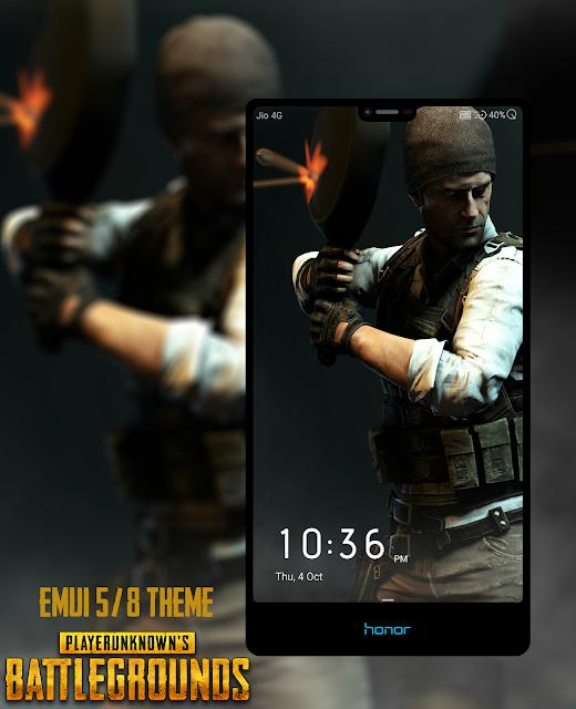 Tema PUBG Mobile untuk EMUI
